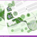 Gestaltung einer Fläche auf dem Waldfriedhof mit Raum für verschiedene Urnenbestattungsformen (Urnenwahl-, Urnengemeinschafts- und Urnenbaumgrabflächen).